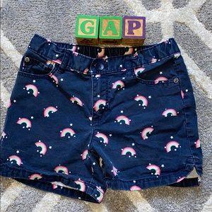 GAP Girls 5 Pocket Midi Shorts Navy w/🌈 🌈